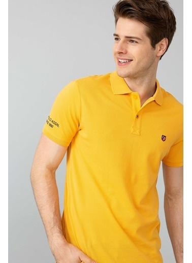 U.S.Polo Assn. Slim Fit Polo Yaka Tişört Sarı